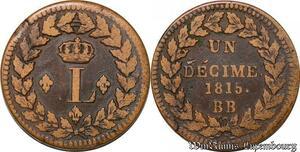 S6203 Un Décime à L couronnéeLeger 1815 .. ->Faire Offre