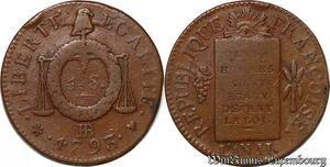 S6219 Rare Convention Sol aux balances An II 1793 BB Strasbourg ->Faire Offre