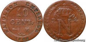 S6248 10 Centimes à L'N couronnée1808 M Toulouse ->Faire Offre