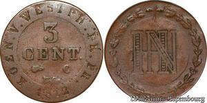 S6251 Allemagne Westphalis 3 Centimes 1812 C Cassel Napoléonide ->Faire Offre