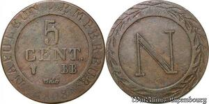 S6253 Rare 5 Centimes 1808 BB Strasbourg Napoléon -> Faire Offre