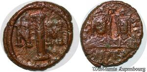 S6268 Byzantine Empire Half Follis demi NIM NM ->Faire Offre