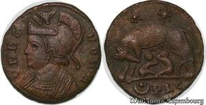 S6273 Constantine the Great Nummus 330-331, Lyon Louve VRBS Roma SPL ! ->Make offer
