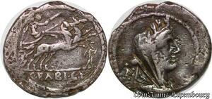S6277 denI denarius 104 a.C. FABIA-14. C. Fabius C. f. Hadrianus Argent