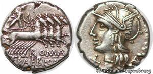 S6278 Rare denI denar M. Baebius Q.f. Tampilus. 137 BC. AR denarius Silver