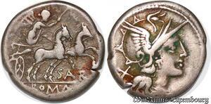 S6287 denI Atilius Saranus 155 B.C denarius Rome Argent Silver ->Faire Offre