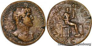 S6306 INEDIT Roman Empire Sesterce Hadrian 117 138 Traianvs ANNONA AVGVSTI