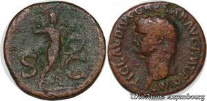 S6345 Claudius 41-54 Chr AE-As 50-54 TI Clavdivs Caesar AVG P M TR P Imp P P
