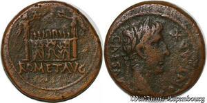 S6357 Octavian Augustus 27 BC 14 AD Auxiliary mint Gaul 8 BC Æ Caesar Pont Max