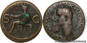 S6360 Caligula 37-41 As Rome Vesta C Caesar Avg Germanicvs Pon M Tr Pot