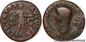 S6366 Claudius 41-54 As 50-54 Æ Ti Clavdivs Caesar Avg Libertas Avgvsta
