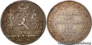 S6374 Rare Jeton Académie des Beaux-Arts Lyon 1713 Louis XIV Argent Silver