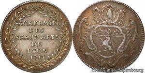S6377 Rare Jeton Académie des Beaux-Arts Lyon 1713 Louis XIV Argent Silver