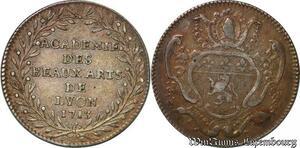 S6378 Rare Jeton Académie des Beaux-Arts Lyon 1713 Louis XIV Argent Silver