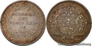 S6379 Rare Jeton Académie des Beaux-Arts Lyon 1713 Louis XIV Argent Silver