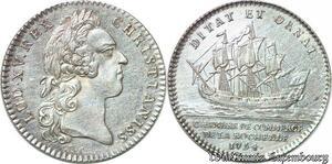 S6396 Jeton Token Louis XV Chambre CommerceLa Rochelle 1754 Argent SUP !