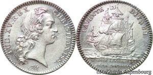 S6399 Jeton Token Louis XV Chambre CommerceLa Rochelle Argent Silver SUP !
