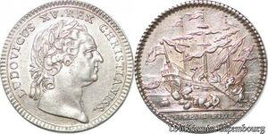 S6405 Jeton Token Louis XV Chambre CommerceLa Rochelle Argent Silver SUP !