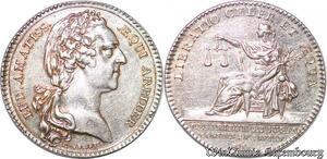 S6406 Rare Jeton Louis XV Normandie Chambre CommerceDieppe 1758 Argent SUP !