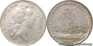 S6412 Jeton Token Louis XV secrètaires du RoiI 1731 Argent Silver