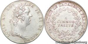 S6421 Jeton Louis XV Protecteur Académie Francoise A Immortalité VivI SUP