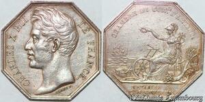 S6472 Jeton Charles X Chambre CommerceVille Amiens 1802 Argent