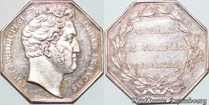 S6475 Jeton Louis Philippe Chambre Commercede Lille Dubois Argent Silver