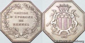S6485 Jeton Caisse Epargne de Rennes Argent Silver -->Faire Offre