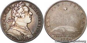 S6503 Jeton Louis XV Trésor Royal Non. Sibi. Sed. Orbi 1751 Argent Silver