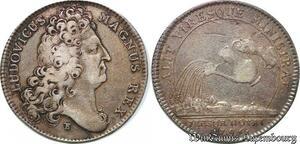 S6518 Jeton Token Louis XIV 1706 Alit. Viresque. Ministrat Argent Silver