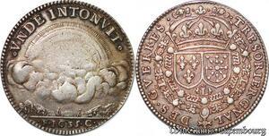 S6523 Très Rare Jeton Sous Louis XIII ordinaire guees Jean de Montmort Argent