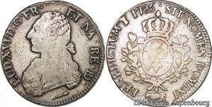S6530 Louis XVI Ecu de Béarn aux branches d'olivI 1785 Pau Argent Silver