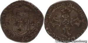 S6538 Rare 1/8 Ecu Henri IV 1604 L Bayonne Argent Silver ->Faire Offre