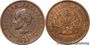 S6542 Haiti 20 Centimes Nicholas F. Geffrard President Heaton Birmingham 1863