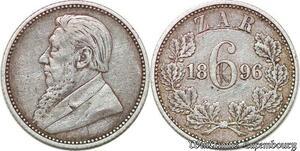 S6550 South Africa Afrique du Sud 6 Pence 1896 Silver ->Faire Offre