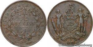 S6555 British North Borneo 1 cent 1888 Heaton ->Faire Offre
