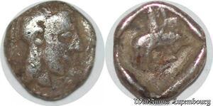 S6579 Kilikien 378 372 Obole Tarsos tête gauche Satrap Datames Silver