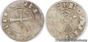 S6593 Rare Principauté D'Antioche Bohémond III denI Argent Silver