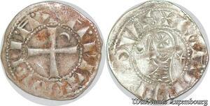 S6596 Rare Principauté D'Antioche Bohémond III denI Argent Silver