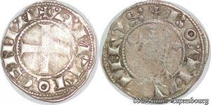 S6603 Rare Principauté D'Antioche Bohémond III denI Argent Silver