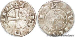 S6605 Rare Principauté D'Antioche Bohémond III denI Argent Silver