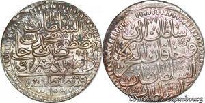 S6614 Turkey Kurus 1106/9 AH Türkei Mustafa II AH 1106-1115 Silver MS UNC