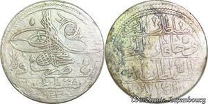 S6622 Turkey Kurus Mahmud I 1143 /29 Silver Constantinople SUP ++++