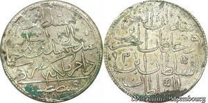 S6627 Turkey 2 Zolota 1187/3 AH Abdul Hamid I Constantinople Silver