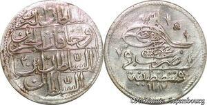 S6642 Turkey Turquie Piastre Abdul Hamid I 1187/2 Constantinople Silver AU SUP