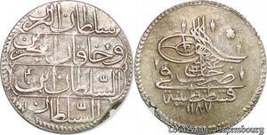 S6643 Turkey Turquie Türkei Piastre Abdul Hamid I 1187/4 Constantinople Silver