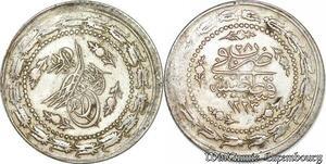 S6650 Turkey Turquie 6 Kurush Mahmud II 1223/28 Constantinople Silver AU SUP
