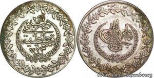 S6661 Turquie 5 Pias Mahmud II 1223/24 Constantinople Silver AU/SUP