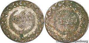 S6662 Turkey Turquie Türkei 5 PiasTrès Mahmud II 1223/25 Constantinople Silver
