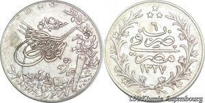 S6665 Egypte 20 Qirsh Adbul Hamid II 1327/6 Argent Silver ->Faire Offre